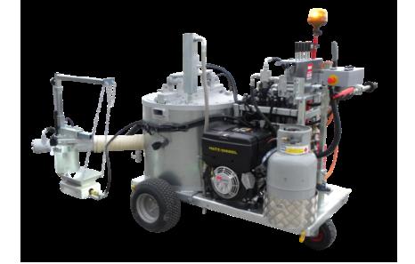 M75 - Maskin för försegling av uppsågade spår (efter micro trenching) och reparation av sprickor i vägbanor